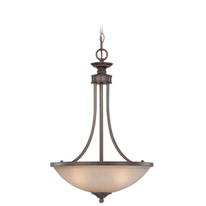 Spencer Bronze Three Light Bowl Pendant