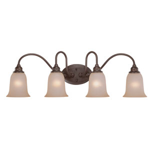 Linden Lane Old Bronze Four Light Vanity