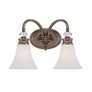 Boulevard Mocha Bronze Two Light Wall Sconce