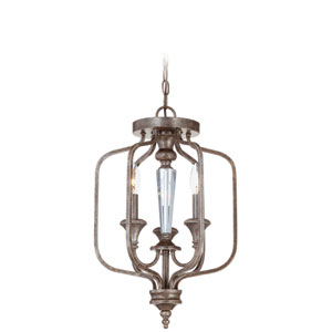 Boulevard Mocha Bronze Three Light Chandelier