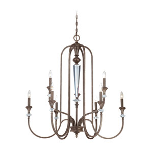 Boulevard Mocha Bronze Nine Light Chandelier
