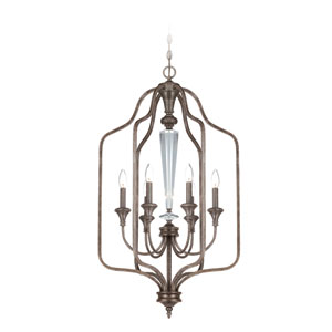 Boulevard Mocha Bronze Six Light Chandelier