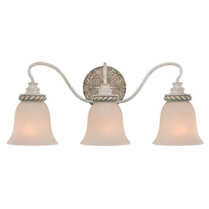 Zoe Antique Linen Three Light Chandelier