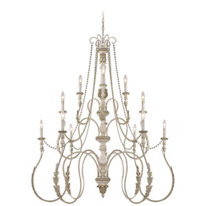 Zoe Antique Linen 12-Light Chandelier