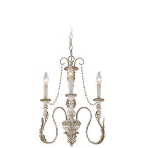 Zoe Antique Linen Three-Light Chandelier
