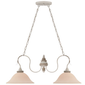 Zoe Antique Linen Two Light Island