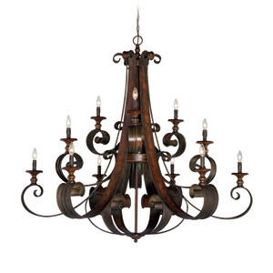 Seville Spanish Bronze 12-Light Chandelier