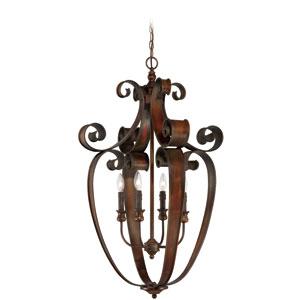 Seville Spanish Bronze Four-Light Chandelier
