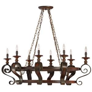 Seville Spanish Bronze Eight-Light Chandelier