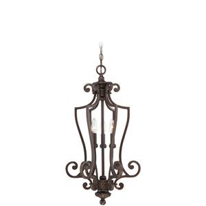 Josephine Antique Bronze Three-Light Chandelier