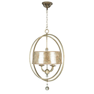 Windsor Athenian Obol Four-Light Chandelier with Silver Mica Shade