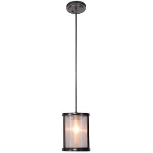 Danbury Matte Black One-Light Mini-Pendant
