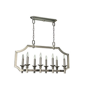 Lisbon Antique Nickel Eight-Light Pendant
