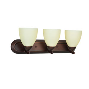 Almeda Old Bronze Three-Light Vanity