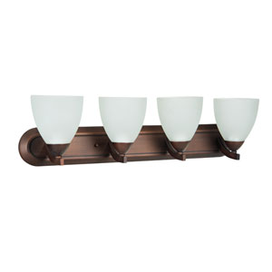 Almeda Old Bronze Four-Light Bath Fixture