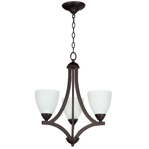 Almeda Old Bronze Three-Light Chandelier