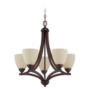 Almeda Old Bronze 24-Inch Five-Light Chandelier