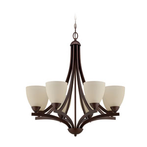 Almeda Old Bronze Eight-Light Chandelier