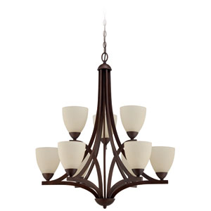Almeda Old Bronze Nine-Light Chandelier