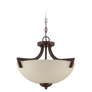 Almeda Old Bronze Three-Light Semi Flush