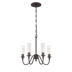Modina Espresso Four-Light Chandelier