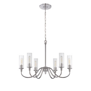 Modina Chrome Six-Light Chandelier