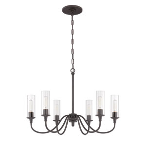 Modina Espresso Six-Light Chandelier