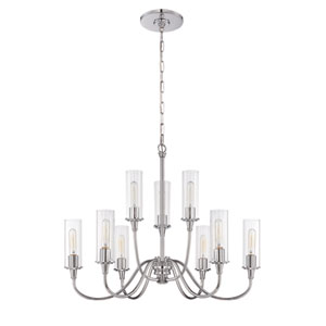 Modina Chrome Nine-Light Chandelier