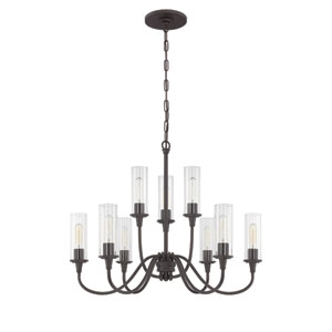 Modina Espresso Nine-Light Chandelier