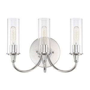 Modina Chrome Three-Light Bath Fixture