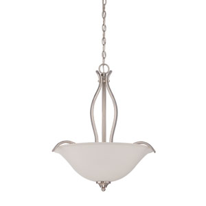 Northlake Satin Nickel Three-Light Pendant