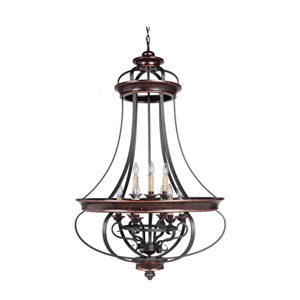 Stafford Aged Bronze Nine-Light 31-Inch Chandelier
