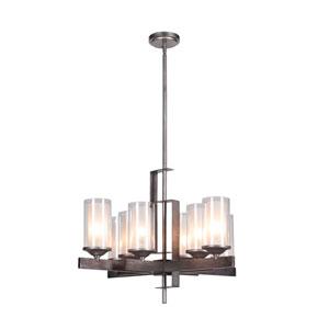 Mod Natural Iron Eight-Light Chandelier