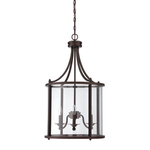 Carlton Aged Bronze Three-Light Pendant
