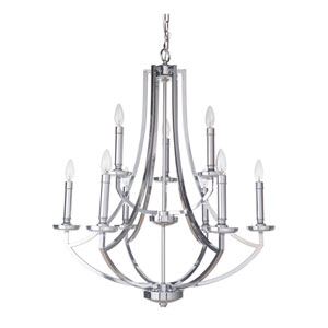 Hayden Chrome Nine-Light Chandelier