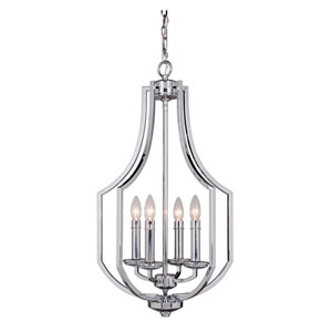 Hayden Chrome Four-Light Chandelier
