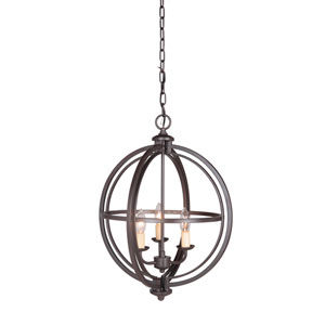 Berkeley Espresso Three-Light Chandelier