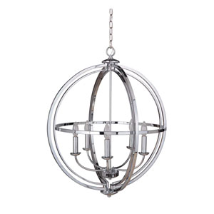Berkeley Chrome Five-Light Chandelier