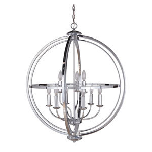 Berkeley Chrome Nine-Light Chandelier