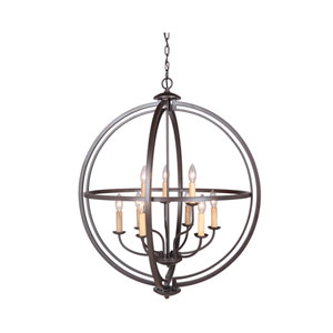 Berkeley Espresso Nine-Light Chandelier