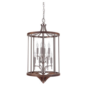 Tahoe Brushed Nickel Eight-Light 18-Inch Chandelier