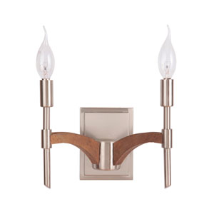 Tahoe Brushed Nickel Two-Light Wall Sconce