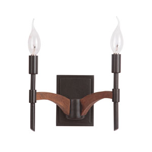 Tahoe Espresso Two-Light Wall Sconce