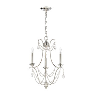 Lilith Polished Nickel Three-Light Chandelier