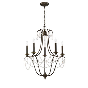 Lilith Legacy Brass Five-Light Chandelier