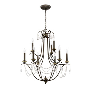 Lilith Legacy Brass Nine-Light Chandelier
