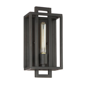 Cubic Aged Bronze Brushed One-Light Wall Sconce