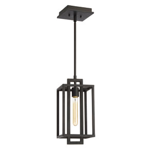 Cubic Aged Bronze Brushed One-Light Mini Pendant