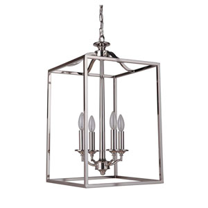 Helena Polished Nickel Four-Light Chandelier