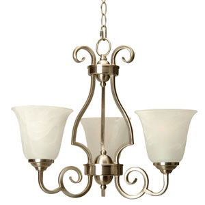 Cecilia Brushed Satin Nickel Three-Light Chandelier